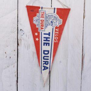 fanion publicitaire the dura velos vintage
