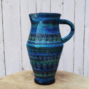 Pichet en céramique émaillé Bitossi Italy