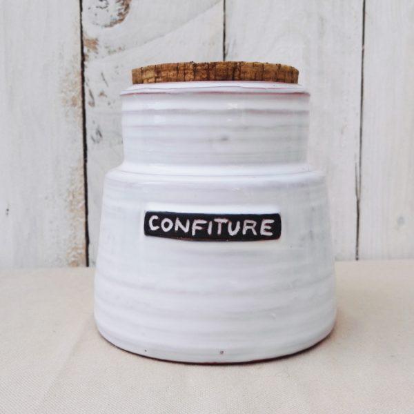 pot à confiture céramique émaillé signé Peyrot