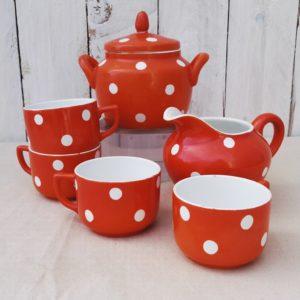service café ou thé en faience Digoin Sarreguemines