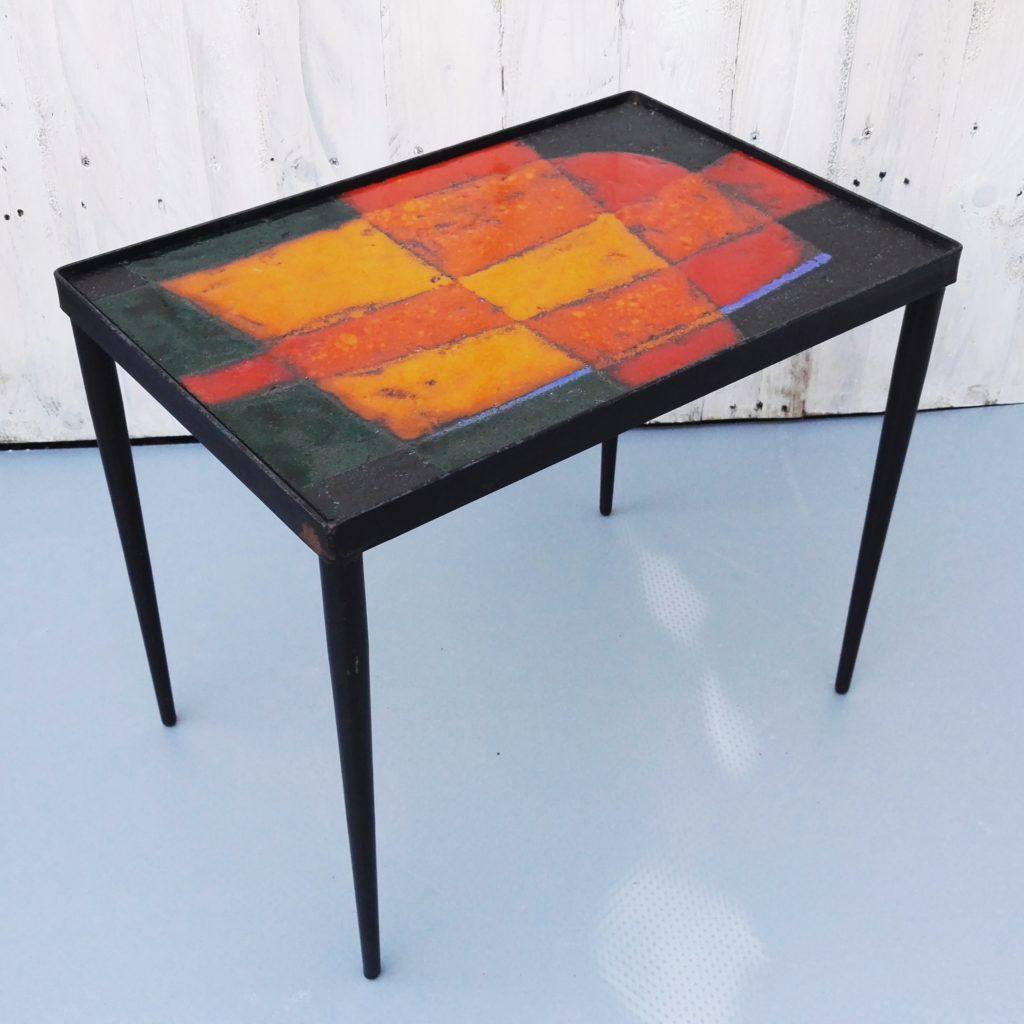 table bout de canap cloutier c ramique design 50 39 s acolytes antique. Black Bedroom Furniture Sets. Home Design Ideas
